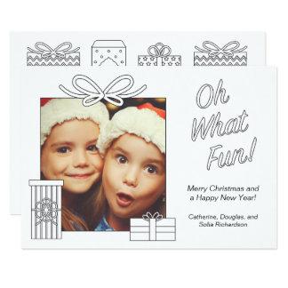 Presentes de Natal adultos da coloração Convite 12.7 X 17.78cm