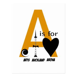 Presentes de Nova Zelândia: A é para AUCKLAND Cartão Postal
