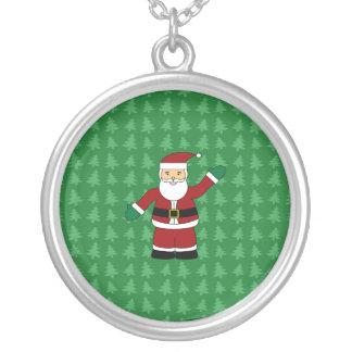 Presentes de Papai Noel Colar Com Pendente Redondo