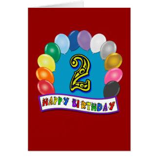 Presentes de segundo aniversário e roupa felizes d cartões