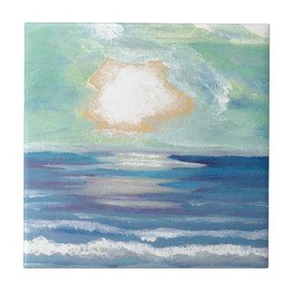 Presentes de Sun do surf do mar do oceano do por Azulejo Quadrado Pequeno