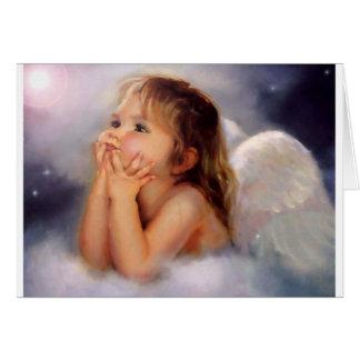 presentes do anjo cartão comemorativo