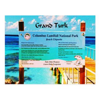 Presentes do caribe cartão postal