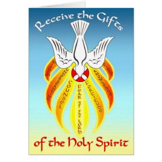 Presentes do cartão da confirmação do Espírito