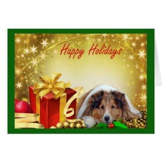 Presentes do cartão de Natal de Sheltie