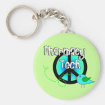 Presentes do design do sinal de paz da tecnologia  chaveiros