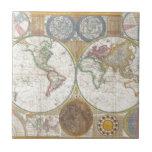 Presentes do mapa do mundo azulejos