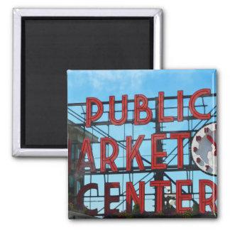 Presentes do mercado público de Seattle Washington Ímã Quadrado