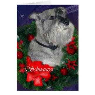 Presentes do Natal do Schnauzer padrão Cartão