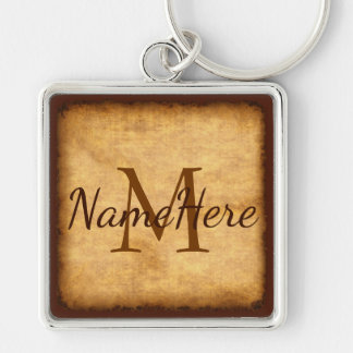 Presentes do nome e do monograma para o chaveiro