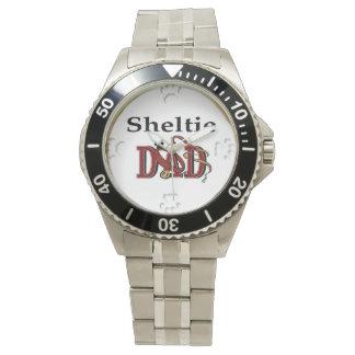 Presentes do pai de Sheltie Relógio De Pulso
