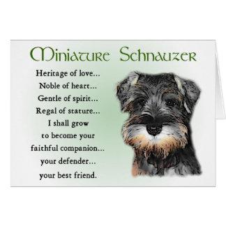 Presentes do Schnauzer diminuto Cartão