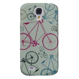 Presentes do teste padrão da bicicleta do vintage  capas samsung galaxy s4
