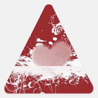 Presentes do teste padrão do coração dos namorados adesivo triangular