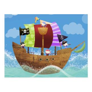 presentes dos piratas ahoy cartões postais