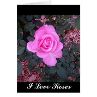 Presentes e mercadoria brilhantes do rosa do rosa cartão comemorativo