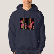 Presentes elegantes florais do buquê cor-de-rosa moleton com capuz