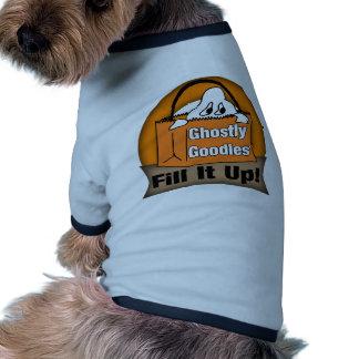 Presentes espectrais camisa ringer para cachorro