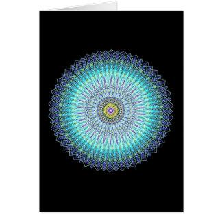Presentes espirituais da mandala cartao