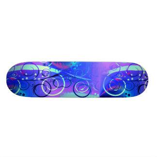 Presentes femininos roxos azuis do redemoinho shape de skate 18,4cm