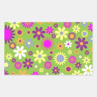 Presentes florais do hipster adesivo retangular