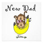 Presentes gêmeos do novo papai do menino e da meni convites personalizado