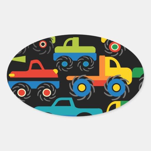 Presentes legal do transporte dos caminhões de adesivos ovais