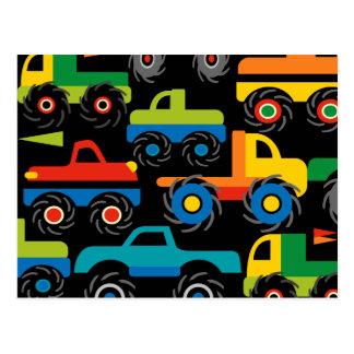 Presentes legal do transporte dos caminhões de cartão postal