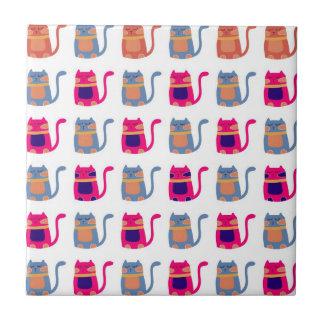 Presentes originais azuis do melão cor-de-rosa gor azulejos de cerâmica