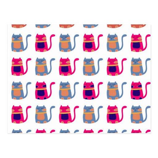 Presentes originais azuis do melão cor-de-rosa gor cartão postal