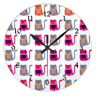 Presentes originais azuis do melão cor-de-rosa gor relógios para paredes