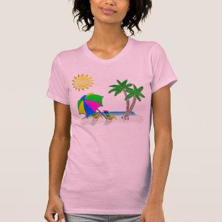 Presentes para os Snowbirds, camisas da praia T