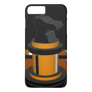 Presentes pretos do geek do cavaleiro da xadrez de capa iPhone 7 plus