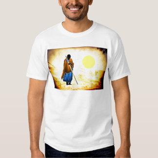 Presentes retros 02 do estilo do vintage de África Tshirts