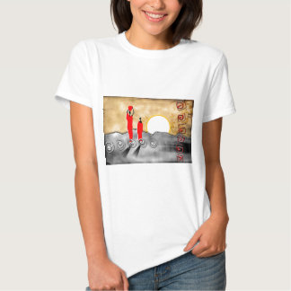 Presentes retros 26 do estilo do vintage de África T-shirt