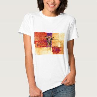 Presentes retros AF097 do estilo do vintage de Camisetas