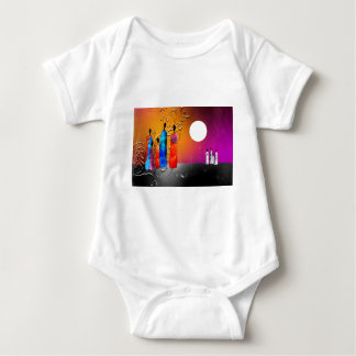Presentes retros do estilo do vintage de África Body Para Bebê