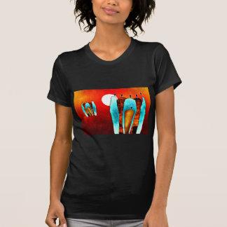 Presentes retros do estilo do vintage de África Tshirts