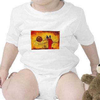 Presentes retros do estilo do vintage de África Macacãozinho Para Bebê