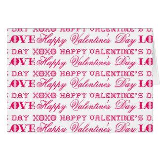 Presentes rosas vermelha do feliz dia dos cartão de nota