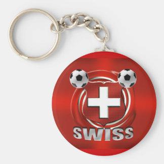 Presentes suíços do futebol do futebol do logotipo chaveiro