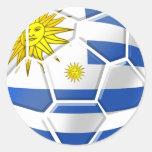 Presentes uruguaios dos fãs de futebol de Celeste Adesivo