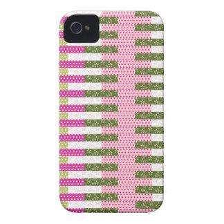 Presentes verdes cor-de-rosa bonito do design da capinha iPhone 4