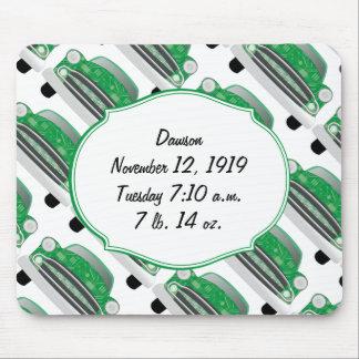 Presentes verdes doces do Stat do chá de fraldas Mouse Pad