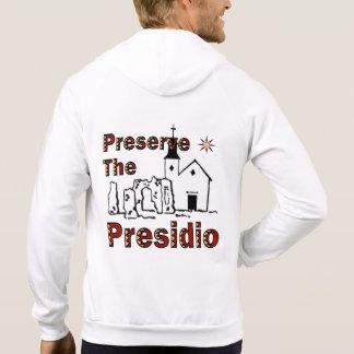 Preserve o Hoodie do fecho de correr de Presidio Moleton Com Capuz
