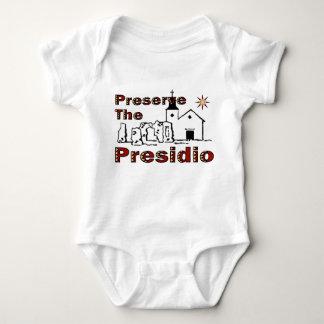 Preserve o Presidio para o bebê Camisetas