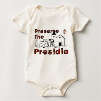Preserve o Presidio para o bebê Macacões