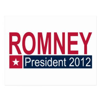 Presidente 2012 de Romney Cartao Postal