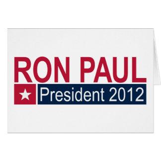 Presidente 2012 de Ron Paul Cartão