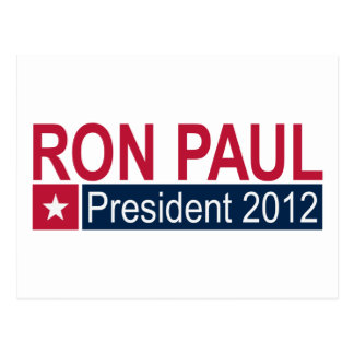 Presidente 2012 de Ron Paul Cartoes Postais